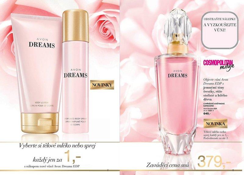 Tělové mléko nebo sprej Avon Dreams